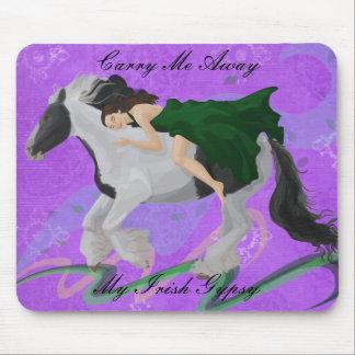 馬の背のマウスパッドの女性 マウスパッド