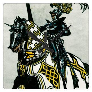 馬の背の柱時計の騎士 スクエア壁時計