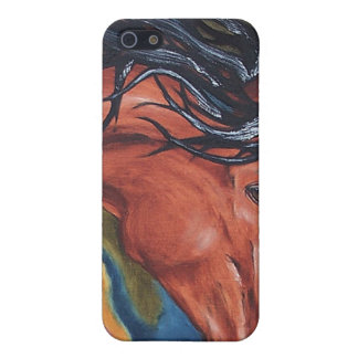 馬の芸術の乗馬のIPhoneの場合 iPhone 5 Case