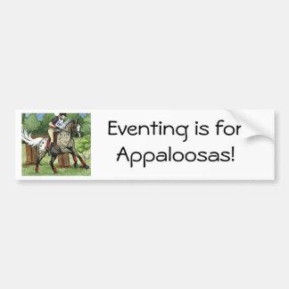 馬の芸術のAPPALOOSA Eventing バンパーステッカー