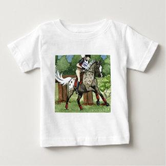 馬の芸術のAPPALOOSA Eventing ベビーTシャツ