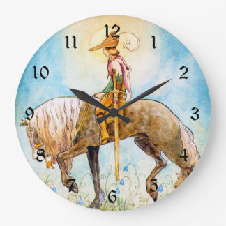 馬の若い王子 ラージ壁時計