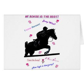 馬の落書き カード