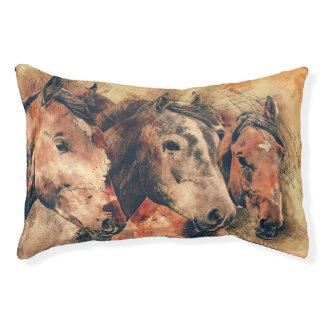 馬の装飾的な芸術的な水彩画の絵を描くこと