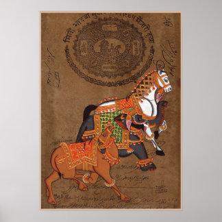 馬の象およびラクダ: ファインアートポスター プリント