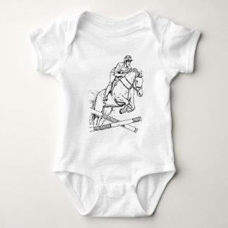 馬の跳躍は ベビーボディスーツ