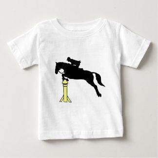 馬の跳躍は ベビーTシャツ