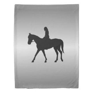 馬の銀の女の子 掛け布団カバー