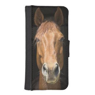馬の顔の写真 iPhoneSE/5/5sウォレットケース