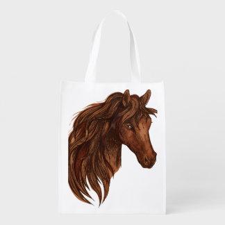 馬の馬のスポーツ エコバッグ