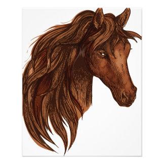 馬の馬のスポーツ チラシ