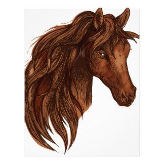 馬の馬のスポーツ レターヘッド