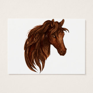 馬の馬のスポーツ 名刺