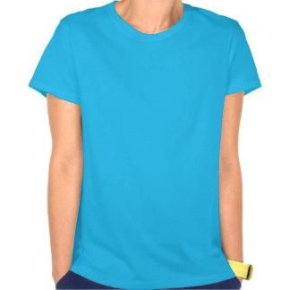 馬の(占星術の)十二宮図の印の青のワイシャツの牡羊座年 Tシャツ