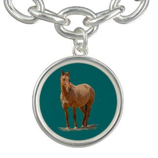 馬のJeweleryの永続的で赤い焦げ茶色のデザイン チャームブレス