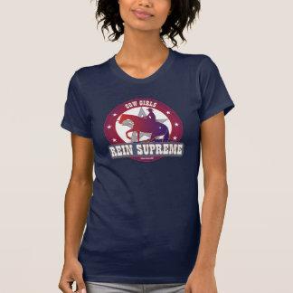 馬のTシャツを制止している女性のカーボーイ Tシャツ