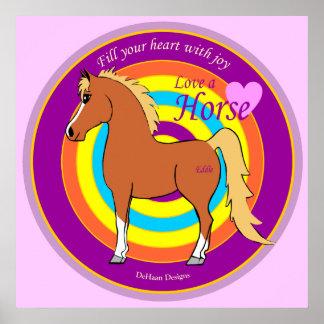 馬は喜びポスターであなたのハートを満たします ポスター