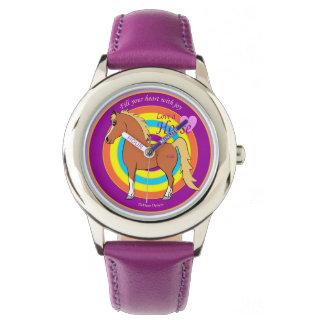 馬は愛子供の腕時計であなたのハートを満たします 腕時計