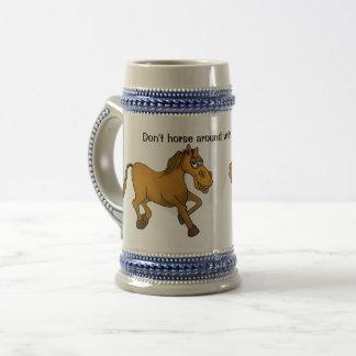 馬は私のビールジョッキと ビールジョッキ