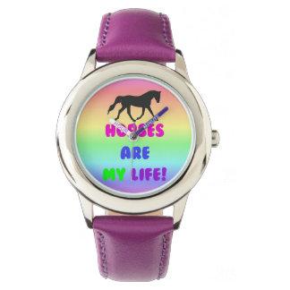 馬は私の生命です! 乗馬 腕時計