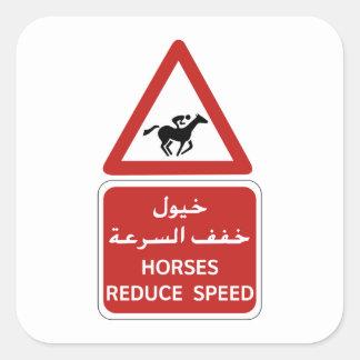 馬は速度、交通標識、アラブ首長国連邦を減らします スクエアシール