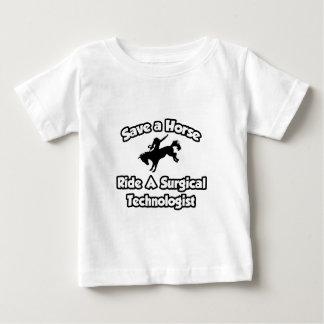 馬を救って下さい、外科科学技術者に乗って下さい ベビーTシャツ
