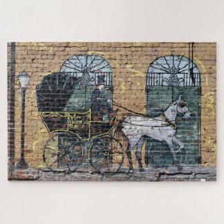 馬キャリッジ壁画都心のナッシュビルテネシー州 ジグソーパズル