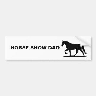 馬ショーのパパ- GAITED バンパーステッカー