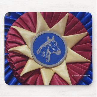 馬ショーのロゼット マウスパッド