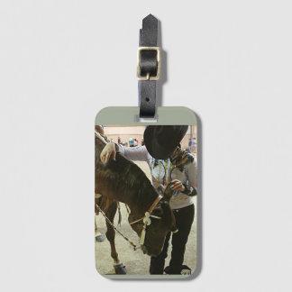 馬ショーの荷物のラベル ラゲッジタグ