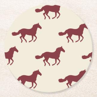 馬パターン ラウンドペーパーコースター