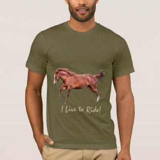 馬ライダーウマ科のなデザイナー服装 Tシャツ