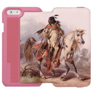馬上のブラックフットのインディアン INCIPIO WATSON™ iPhone 5 財布型ケース