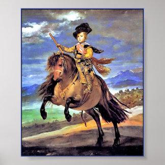 馬上のBaltasarカーロス王子 ポスター