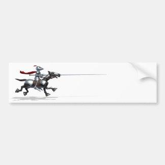 馬上槍試合の騎士バンパーステッカー バンパーステッカー