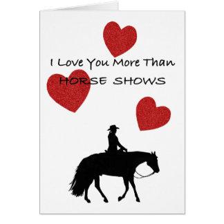 馬人のおもしろいなバレンタイン カード