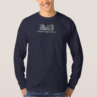 馬力及び雪 Tシャツ
