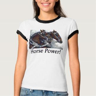馬力! - Percheronの馬 Tシャツ