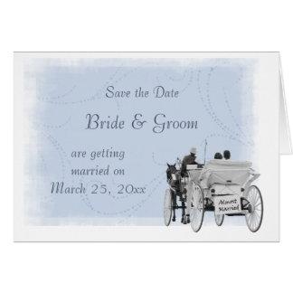 馬及びキャリッジ-日付を救って下さい結婚したな-ほとんど カード