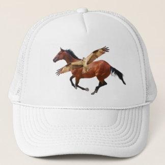 馬及びミサゴまたはタカの帽子 キャップ