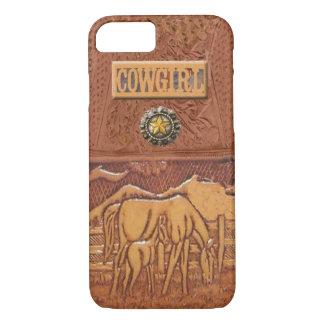 """""""馬及び子馬""""の西部の女性のカーボーイのiPhone 7の場合 iPhone 8/7ケース"""