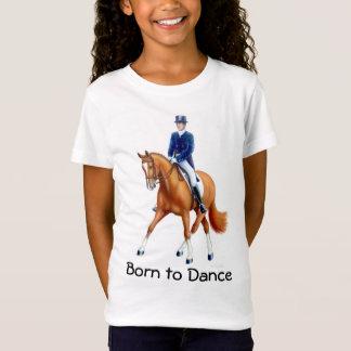 馬場馬術の子供のベビードールのワイシャツを踊るために生まれて下さい Tシャツ