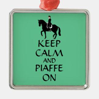 馬場馬術の平静及びPiaffeを保って下さい メタルオーナメント
