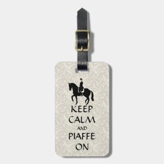 馬場馬術の平静及びPiaffeを保って下さい ラゲッジタグ