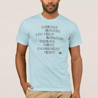 馬場馬術の言語 Tシャツ