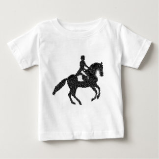 馬場馬術の馬およびライダーのモザイクデザイン ベビーTシャツ