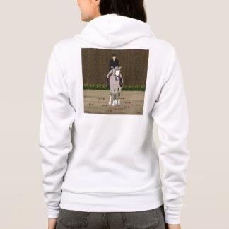 馬場馬術の馬およびライダー パーカ