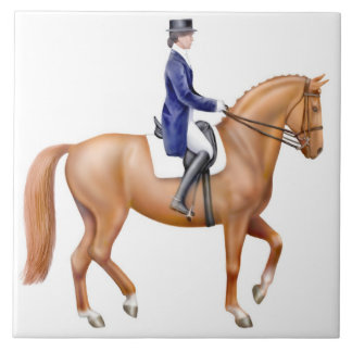 馬場馬術の馬のタイル タイル