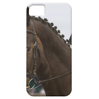 馬場馬術の馬のポートレート iPhone SE/5/5s ケース