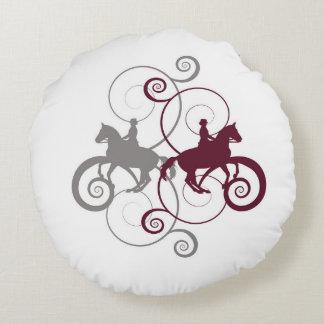 馬場馬術の馬の渦巻の枕 ラウンドクッション